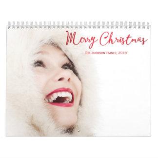 Natal vermelho personalizado 2018 dos calendários