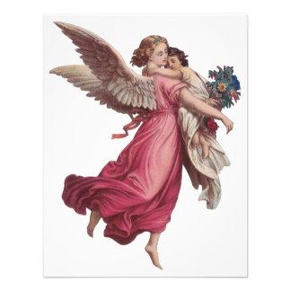 Natal vintage anjo do Victorian que guardara uma Convite