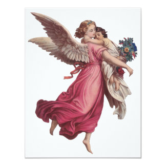 Natal vintage, anjo do Victorian que guardara uma Convite 10.79 X 13.97cm