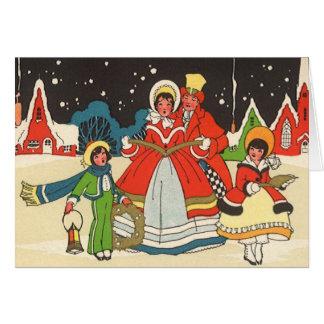 Natal vintage, canções de natal de uma música do cartão comemorativo