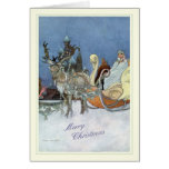 Natal vintage cartão