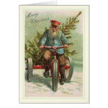 Natal vintage cartão comemorativo