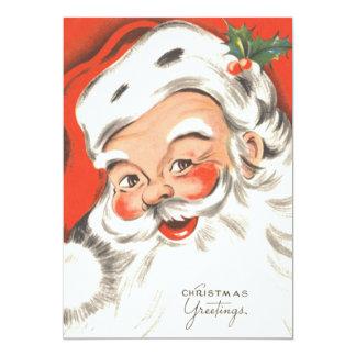 Natal vintage, convite alegre de Papai Noel