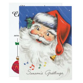 Natal vintage, convite da música de Papai Noel