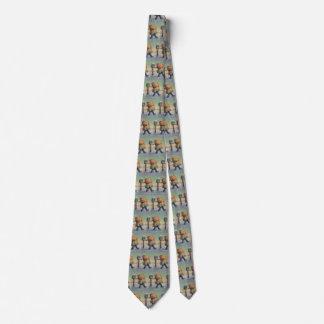 Natal vintage, criança com grande pacote gravata