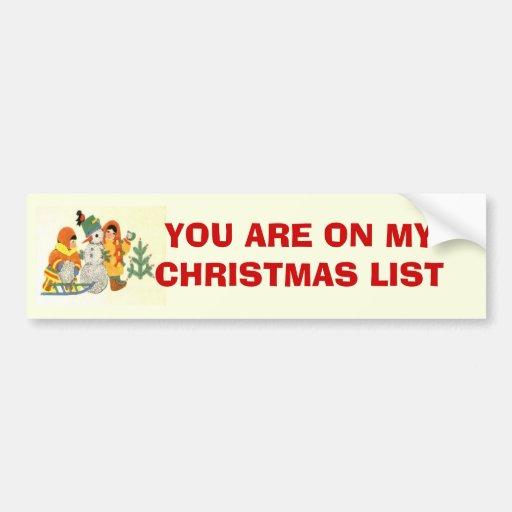 Natal vintage, crianças e boneco de neve adesivos