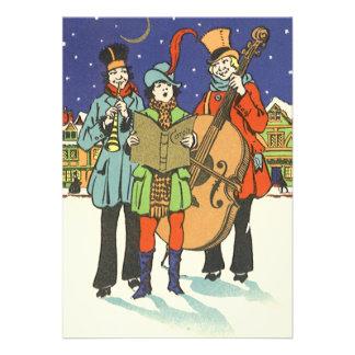 Natal vintage músicos Caroling