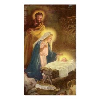 Natal vintage natividade, bebê Jesus de Mary Cartão De Visita