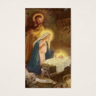 Natal vintage natividade, bebê Jesus de Mary Cartão De Visitas