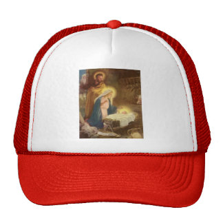Natal vintage natividade, bebê Jesus de Mary Bone