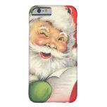 Natal vintage Papai Noel Capa Barely There Para iPhone 6