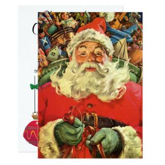 Natal vintage Papai Noel com convite dos