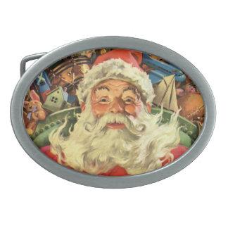 Natal vintage, Papai Noel no trenó com brinquedos