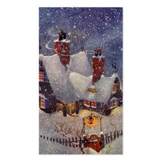 Natal vintage, Pólo Norte da oficina de Papai Noel Cartão De Visita