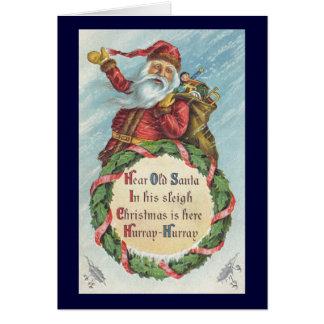 Natal vintage, Victorian Papai Noel Cartao