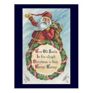 Natal vintage, Victorian Papai Noel Cartões Postais