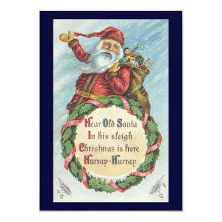 Natal vintage, Victorian Papai Noel Convite Personalizados