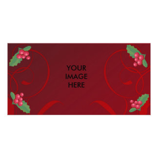 Natal, visco, cartões de fotos cartão com foto personalizado