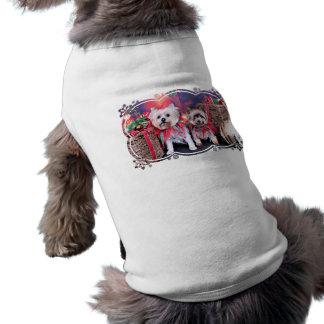 Natal - Yorkie - Zoe e Dori Camisetas Para Caes