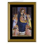 Natale de Buon - a Oração do senhor no italiano Cartão Comemorativo
