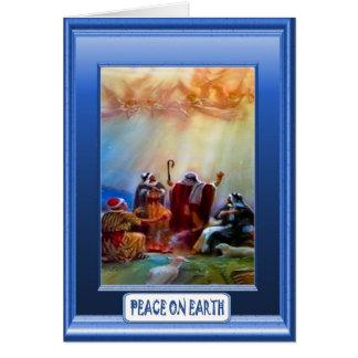 Natividade, cartão de Natal religioso