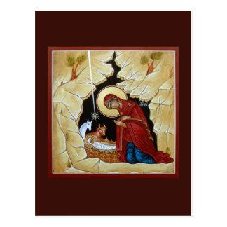 Natividade do cartão da oração do cristo