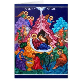 Natividade do cartão de Jesus Holyday