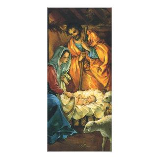 Natividade do natal vintage, bebê Jesus no 10.16 X 22.86cm Panfleto