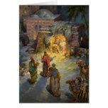 Natividade do natal vintage cartoes