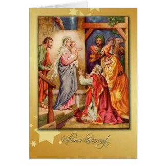 natividade húngara do cartão do Feliz Natal