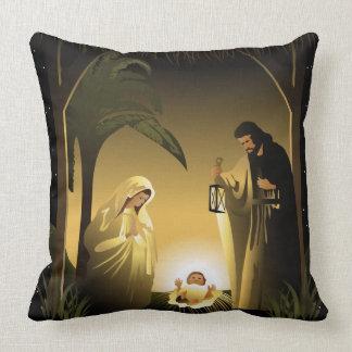Natividade Mary, Joseph e bebê Jesus do Natal Almofada