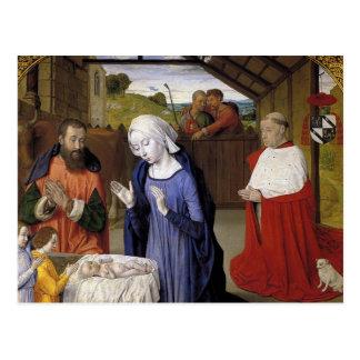 Natividade pelo mestre de Moulins Cartão Postal