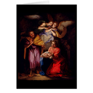 Natividade por Noel Coypel Cartão