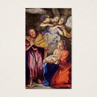 Natividade por Noel Coypel Cartão De Visitas