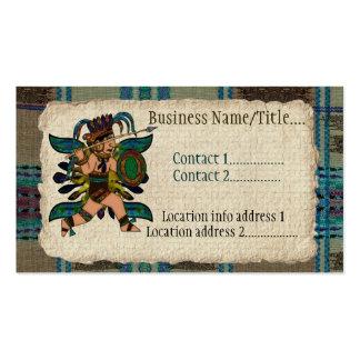 Nativo americano antigo do guerreiro cartão de visita