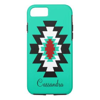 Nativo americano asteca de turquesa do sudoeste capa iPhone 7