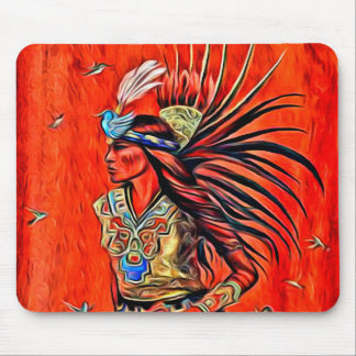 Nativo americano asteca Mousepad do dançarino do