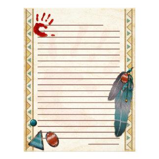 Nativo americano de travamento do espírito papel de carta