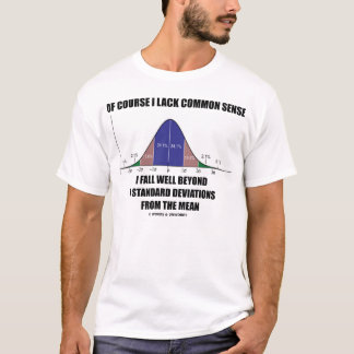 Naturalmente eu falto o senso comum (o humor do camiseta