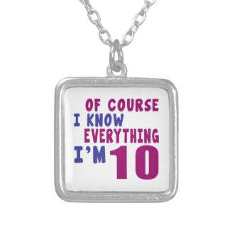 Naturalmente eu sei que tudo eu sou 10 colar banhado a prata