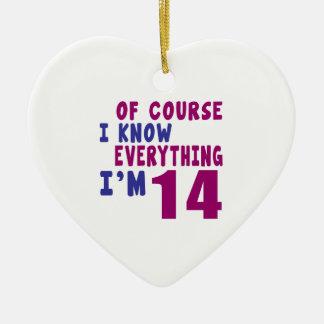 Naturalmente eu sei que tudo eu sou 14 ornamento de cerâmica
