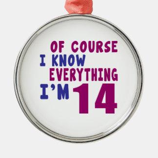 Naturalmente eu sei que tudo eu sou 14 ornamento de metal