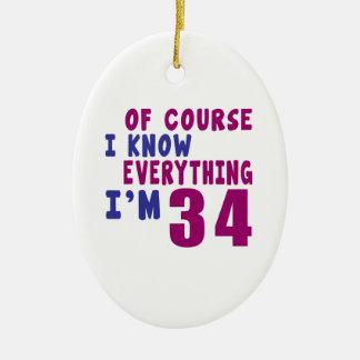 Naturalmente eu sei que tudo eu sou 34 ornamento de cerâmica