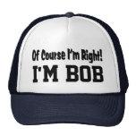 Naturalmente eu sou chapéu direito bonés