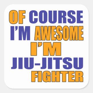 Naturalmente eu sou lutador de Jiu Jitsu Adesivo Quadrado