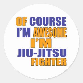 Naturalmente eu sou lutador de Jiu Jitsu Adesivo Redondo
