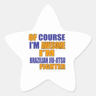 Naturalmente eu sou lutador de Jiu-Jitsu do Adesivo Estrela