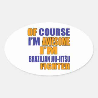 Naturalmente eu sou lutador de Jiu-Jitsu do Adesivo Oval