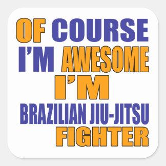 Naturalmente eu sou lutador de Jiu-Jitsu do Adesivo Quadrado