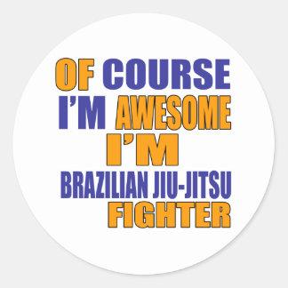 Naturalmente eu sou lutador de Jiu-Jitsu do Adesivo Redondo